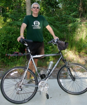 Dr. Randall Hansen with Trek bike